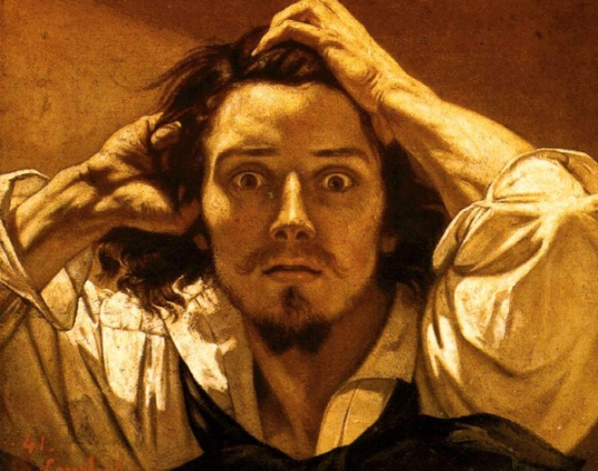 I didn't know that stuff!  (Courbet Self Portrait)