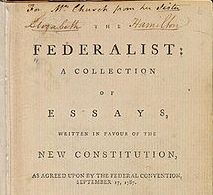The Federalist Papers graphic from Wikipedia article on the same